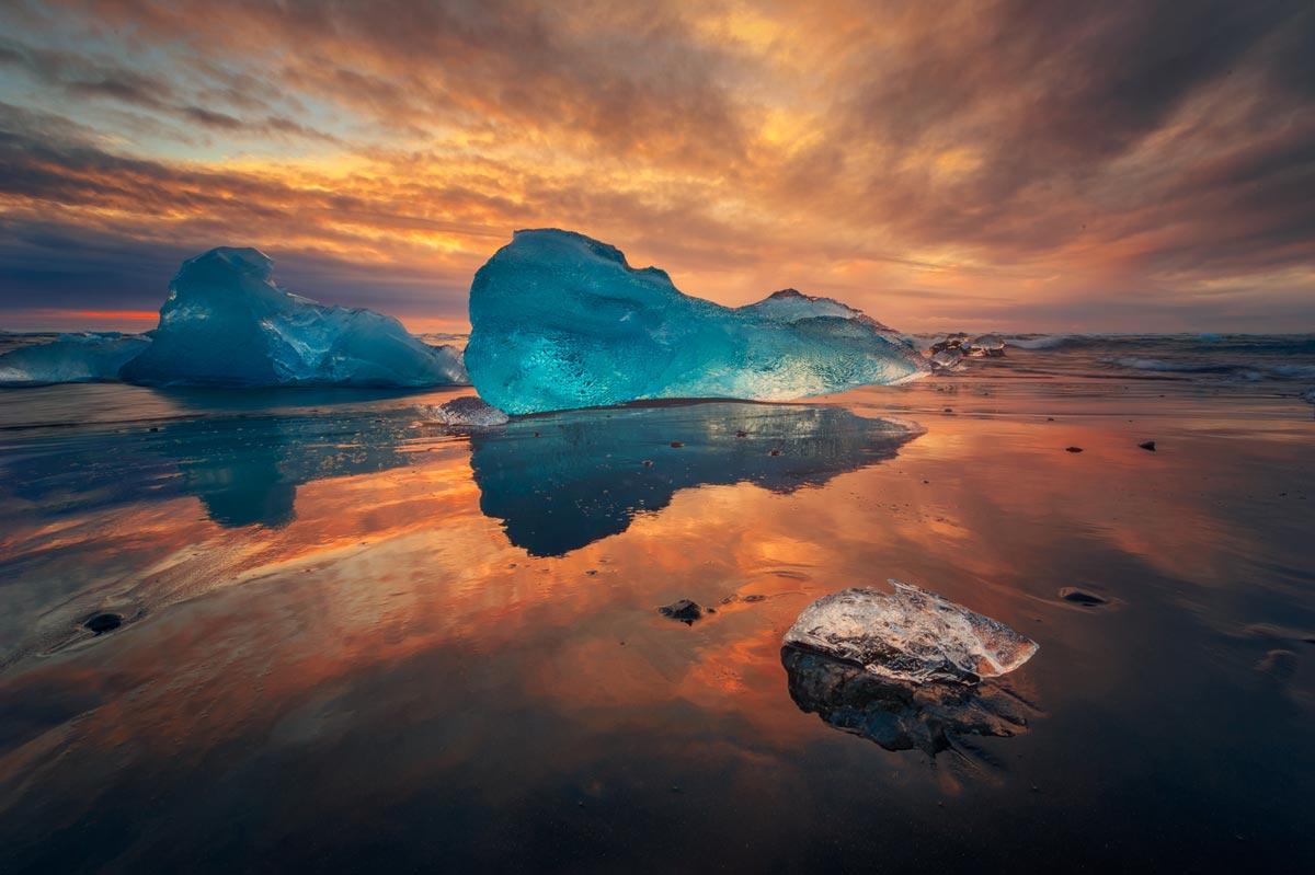 viaggio fotografico islanda ghiacci spiaggia alba