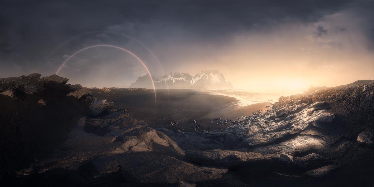 viaggio fotografico islanda vestrahorn tramonto